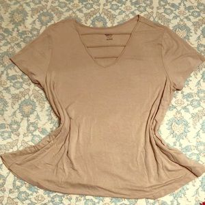 Mossimo Supply nude top with neck detail